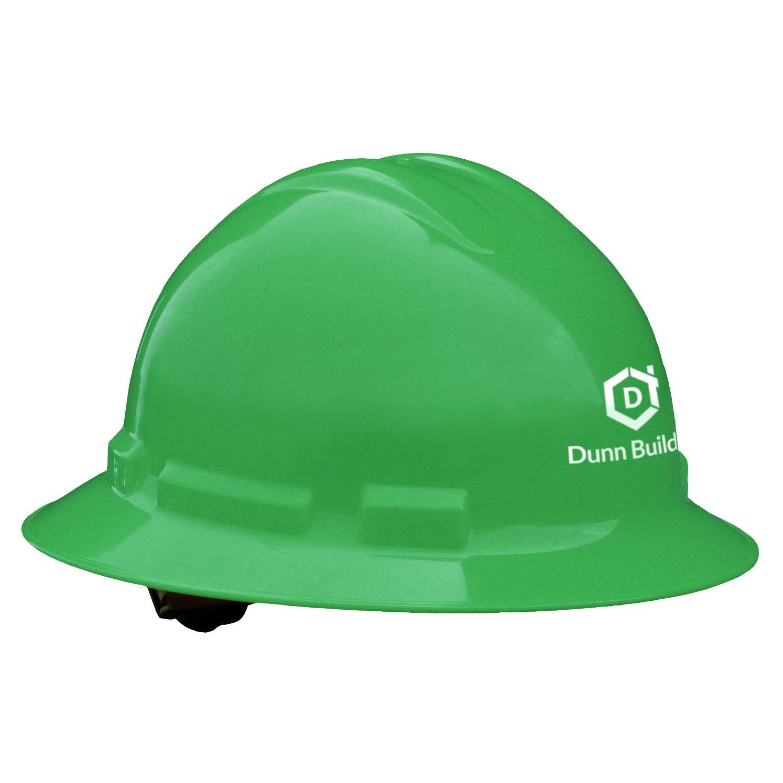 Quartz Full Brim Hard Hat (Green, 4-Point Suspension)