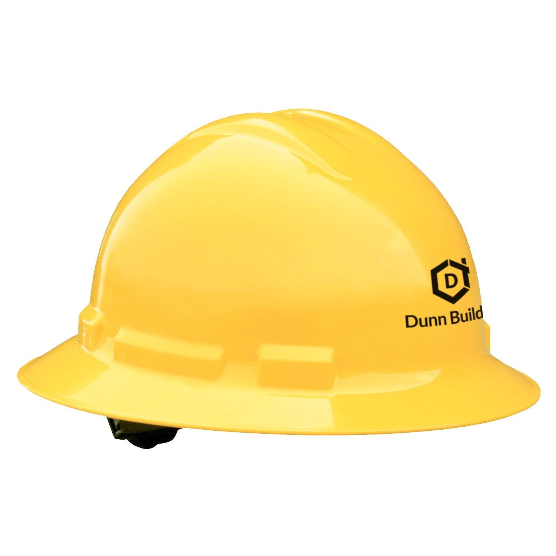 Quartz Full Brim Hard Hat (Yellow, 4-Point Suspension)