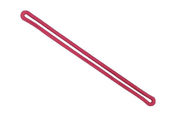 """Red 6"""" Plastic Loop Strap"""