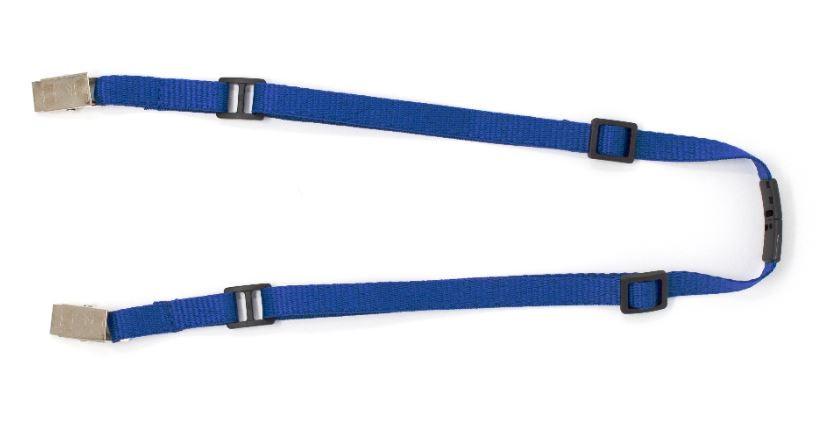 Adjustable Mask Holder Lanyard - Royal Blue