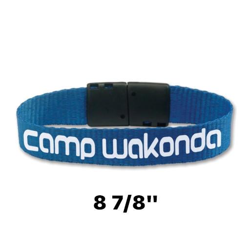 "8 7/8"" Custom Printed 5/8"" Wide Wrist Band with Breakaway"