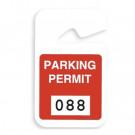 Red plastic parking permit - 05194