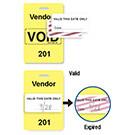 """Reusable Yellow Voidbadge Seq # 201-300 """"VENDOR"""" - 06533"""