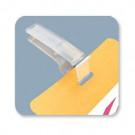 Reusable plastic card clip - 08080