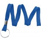 "Royal Blue 3/8"" (10 mm) Lanyard with Nickel-Plated Steel Split Ring"