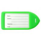 Neon Green Neon Rigid Plastic Luggage Tag Holder