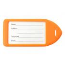Neon Orange Neon Rigid Plastic Luggage Tag Holder