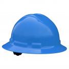Quartz Full Brim Hard Hat (Blue, 6-Point Suspension)