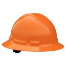 Quartz Full Brim Hard Hat (Orange, 6-Point Suspension)