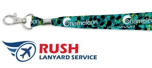 Get custom lanyards fast rush lanyard service