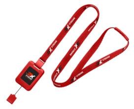 Custom Lanyard Badge Reel Combo Red